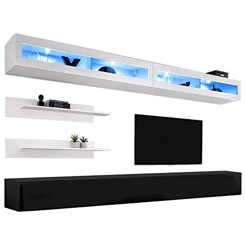 Meble Furniture & Rugs - Wall Mounted Floating Modern Entertainment Center