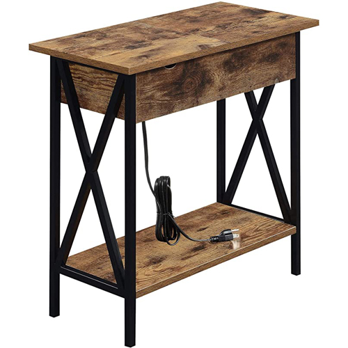 Convenience Concepts - Tucson Flip Top End Table with Charging Station