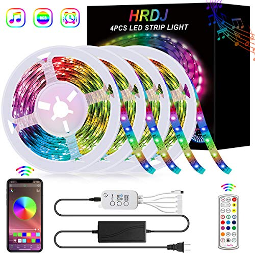 HRDJ RGB LED Strip Light with Music Sync
